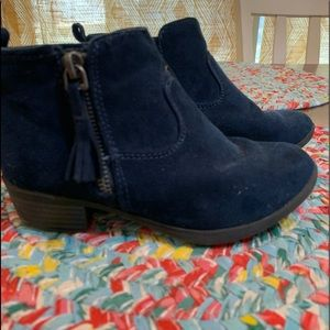 Cat & Jack blue suede booties